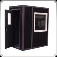 black sound booth, black vocal booth, black recording booth