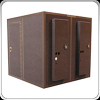 locking door sound isolation booth